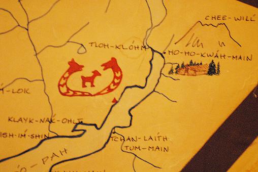 博物馆内的原住民手绘当地地图