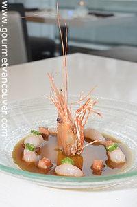 Spot Prawn Menu in Town 1 : ARC @ Fairmont Waterfront Hotel thumbnail