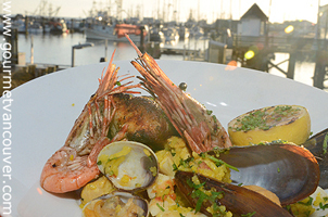 Spot Prawn Dish in Town 5 : Blue Canoe Waterfront Restaurant thumbnail