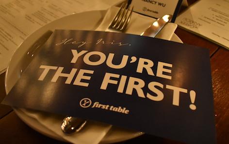 只要通過First Table訂到第一張枱  就享半價優惠 thumbnail